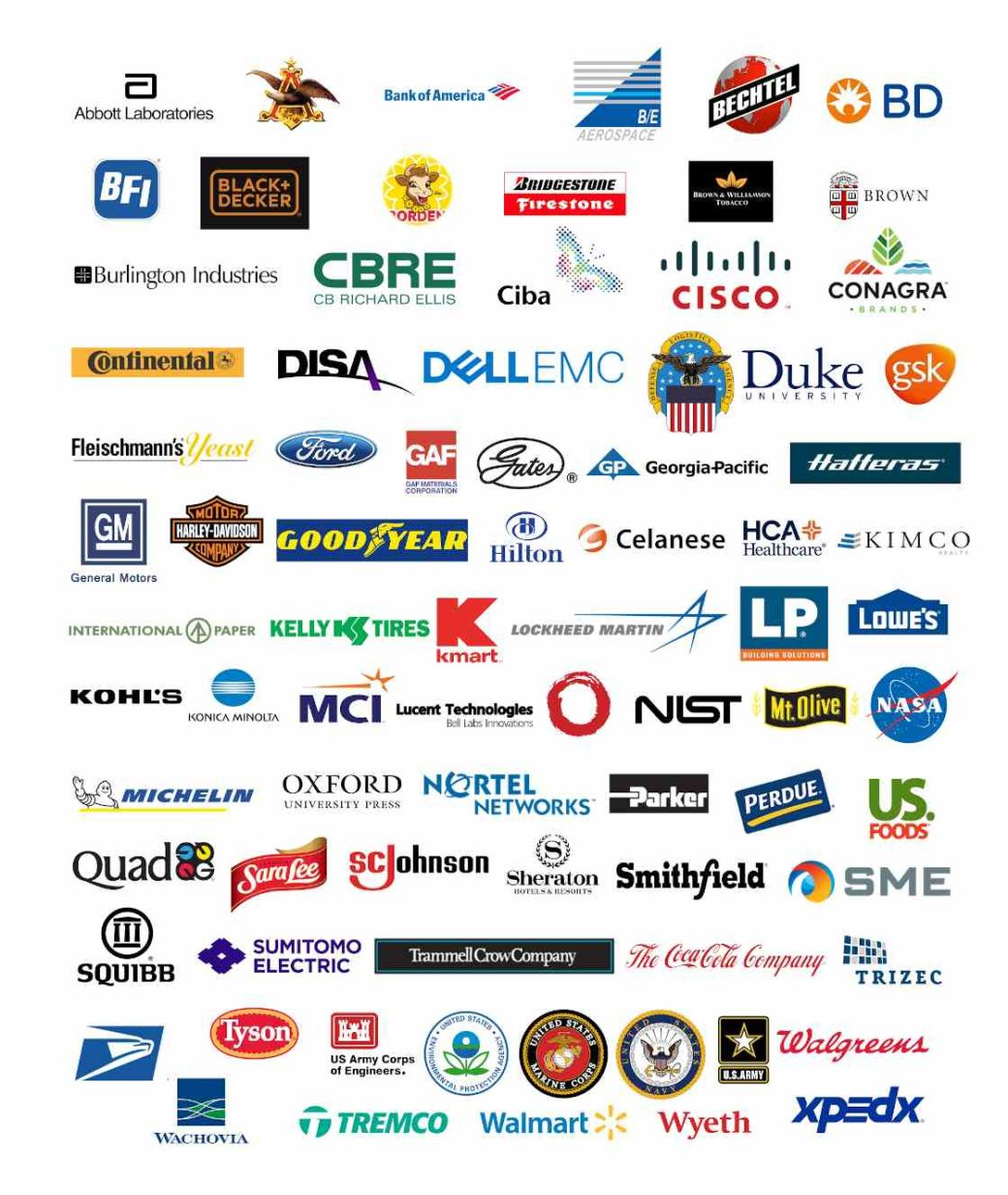 Logos of client companies