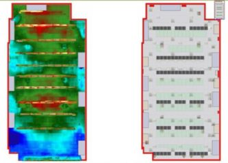 Thermal Map of Ceiling with Physical Layout
