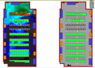 Thermal Map of Floor with Physical Layout